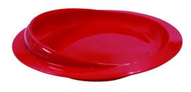 Schepbord met zuignap rood