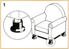 Jackset - verhoger voor meubilair en apparatuur