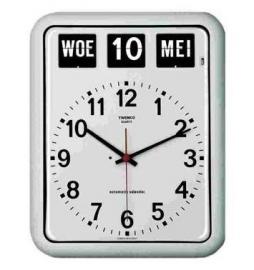 Kalenderklok BQ-12A Wit