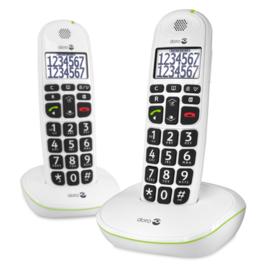 Doro PhoneEasy® 110 duo Dect telefoon Wit