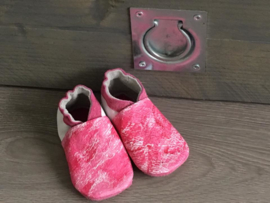 Slofjes Wit - Painted in Pink