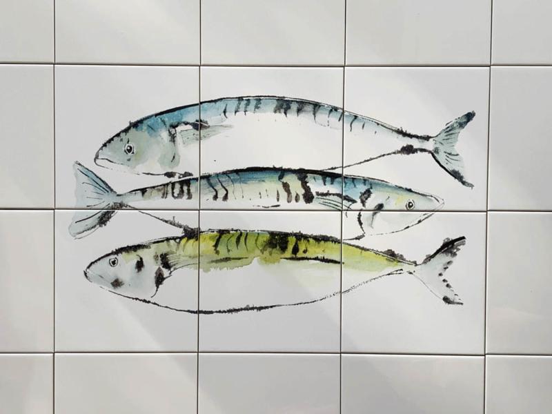 tegeltableau makrelen