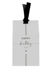 BASTION COLLECTIONS GIFT BAG PEPERMUNT HAPPY BIRTHDAY