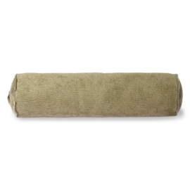 HKLIVING CORDUROY BOLSTER CUSHION ARMY GREEN