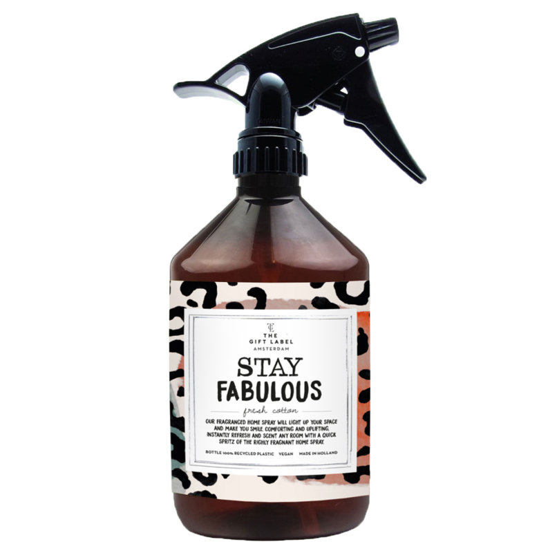 THE GIFT LABEL HOME SPRAY - STAY FABULOUS  FRESH COTTON