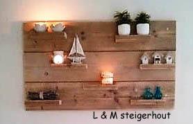 """Steigerhouten wanddecoratie """"Finn"""""""