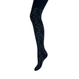 Maillot leopard print zwart