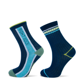 Sock left right navy 2-pak