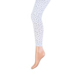 Legging leopard wit/grijs