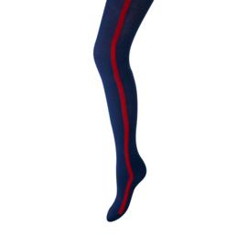 Maillot marine met streep rood aan zijkant