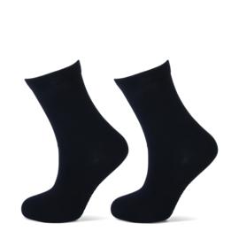 Kindersok uni zwart 2-pak