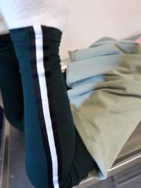 Legging met streep groen of marine