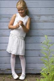 Uni panty met mooie glans wit  off-white en grijs