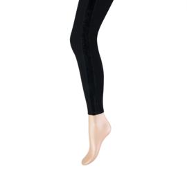Legging Marianne zwart  met velvet streep