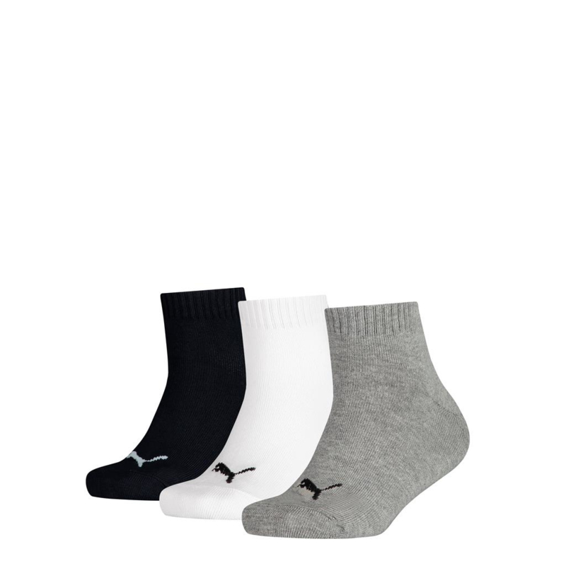 Puma kids quarter zwart/wit/grijs 3-pack