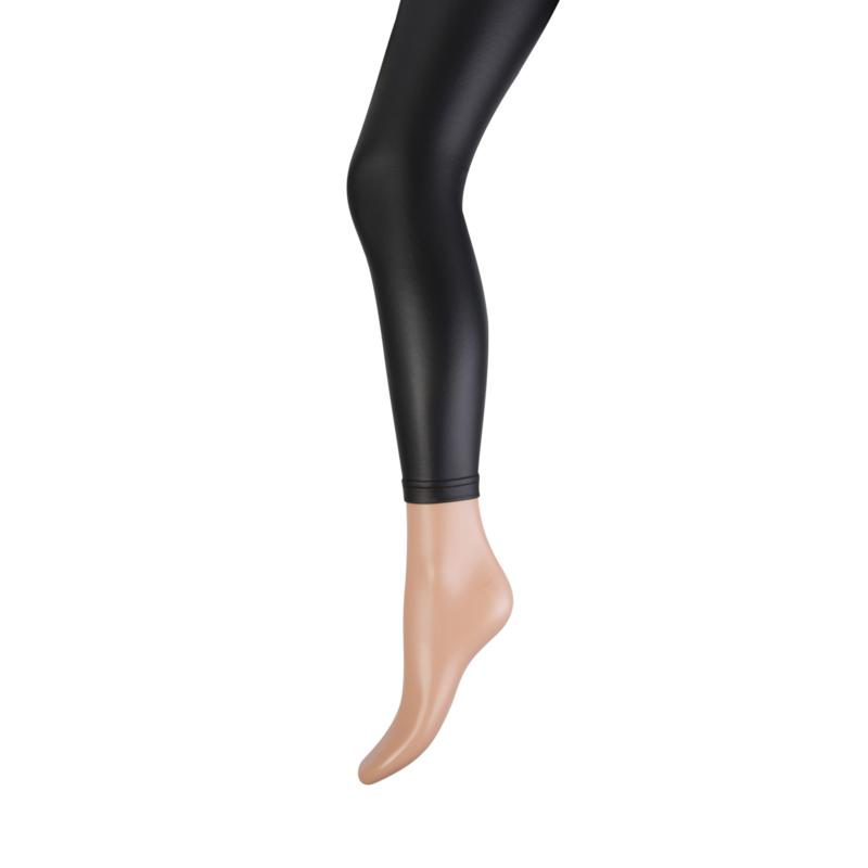 Legging Marianne lederlook zwart