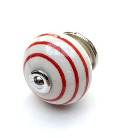 Kastknop rode strepen