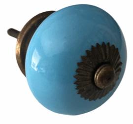 Klassieke kastknop blauw