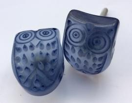 Paars blauwe Uilen kastknop