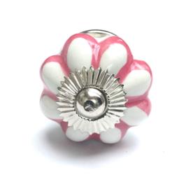 194 Weiß Möbelknöpfe mit Rosa Akzenten
