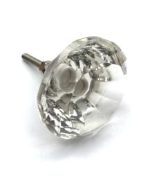 Diamant Möbelknopf Möbelknauf Türknopf Glas