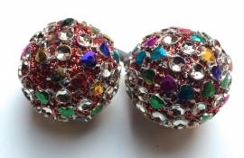 Multicolor kastknop blingbling, kastknoppen
