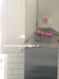 Keuken van Ellen met hartjes deurknopjes