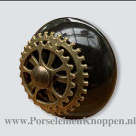Zwart kastknop metaal industrieel, Industriële kastknoppen