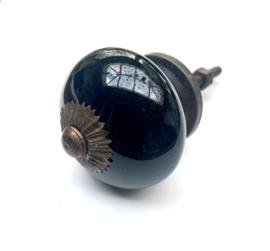 Klassieke zwarte kastknop