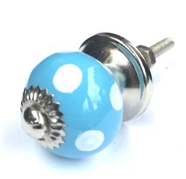 Kastknopje stip Baby Blauw