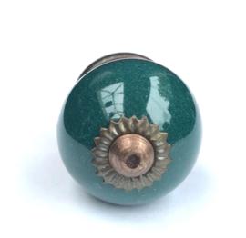 Antiek groen kastknopje, groene Kastknopje