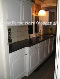 Klantfoto Hanna`s keuken met porseleinen knop
