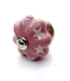 Roze kastknop met ster