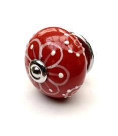 Kastknop Relief rood