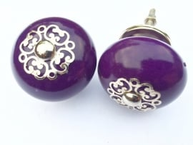Deurknoppen paars met unieke kroon