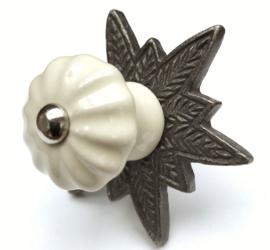 Kastknop met ster rozet