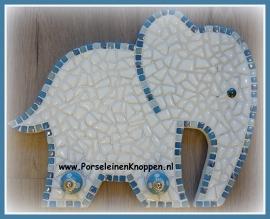 Klantfoto Els haar mozaïek olifantje als doe-het-zelf-pakket te bestellen