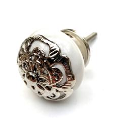 Barok kastknop wit