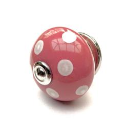 Roze Polka kastknop