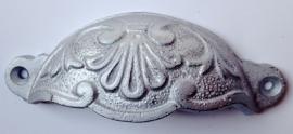 KG018 Griffmulde, Griffmulden, Möbelgriffe, Möbelgriff Silber metalic