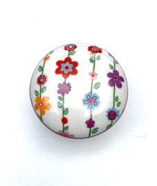Retro kastknopje bloemen gordijn