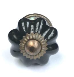 Zwart deurknopje, kastknop zwart