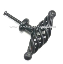 Smeedijzeren kastknoppen spiraal, Keuken kastknoppen smeedijzer ( 48mm ), Iron cast kitchen