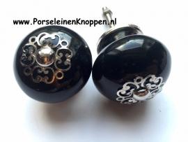 Zwarte kastknop, zwarte deurknop