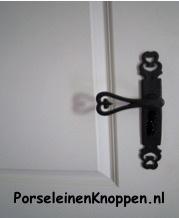 Smeedijzeren deurklinken Castle Heart deurkruk smeedijzer