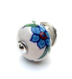 Kastknop met bloemen