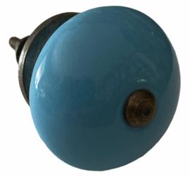 Antieke kastknop blauw. Authentieke kastknoppen blauw