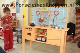 Klantfoto Keuken van Veerle met Retro kastknoppen