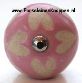 Klantfoto Kapstok gemaakt van mooie porseleinen kastlknopjes