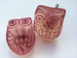 Roze Uiltje kastknop